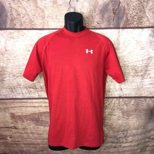 Under Armour T Shirt Size Small Red Short Sleeve